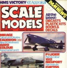 Hobbys: SCALE MODELS AÑO 1980 NOVIEMBRE. Lote 288868098