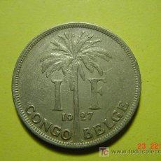 Monedas antiguas de África: 2402 CONGO BELGA UN FRANCO AÑO 1927 COLONIA BELGICA - MAS MONEDAS EN MI TIENDA COSAS&CURIOSAS. Lote 5974348