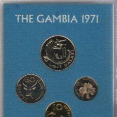 Monedas antiguas de África: GAMBIA PRECIOSO AÑO COMPLETO TEMATICO DE FAUNA. Lote 10507959