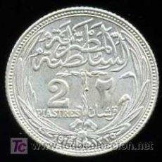 Monedas antiguas de África: EGIPTO: 2 PIASTRAS 1916 (PLATA). Lote 24975837