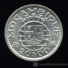 Monedas antiguas de África: MOZAMBIQUE : 20 ESCUDOS 1952 PLATA. Lote 26605296