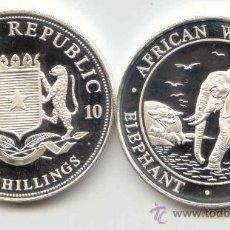 Monedas antiguas de África: SOMALIA 100 SHILLINGS ONZA DE PLATA PURA 2010 SERIE ELEFANTE. Lote 146627852