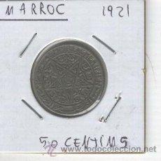 Monedas antiguas de África: MONEDA ANTIGUA DE MARRUECOS. AÑO 1921. 50 CENTIMOS. . Lote 26787350