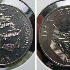 Monedas antiguas de África: RUANDA RWANDA 10 FRANCS 1985. Lote 37058850
