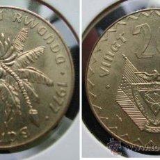 Monedas antiguas de África: RUANDA RWANDA 20 FRANCS 1977. Lote 27286492