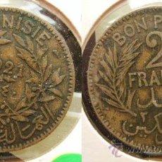 Monedas antiguas de África: TUNEZ TUNISIA - 2 FRANCS 1921. Lote 21908234