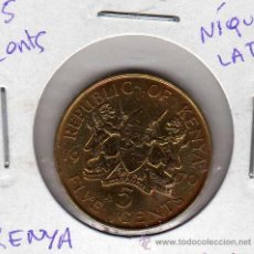 Monedas antiguas de África: MONEDA NÍQUEL LATÓN 5 CENTS KENYA AÑO 1970 MBC. Lote 24768035