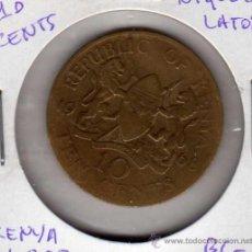 Monedas antiguas de África: MONEDA NÍQUEL LATÓN 10 CENTS KENYA AÑO 1968 BC-. Lote 24768166