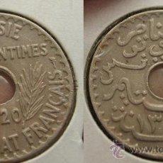 Monedas antiguas de África: TUNEZ TUNISIA - 25 CENTIMES 1920 - (AH1338) - PROTECTORADO FRANCÉS. Lote 26931624