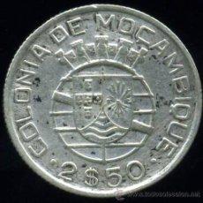 Monedas antiguas de África: MOZAMBIQUE : 2.50 ESCUDOS 1950 (PLATA). Lote 26067126