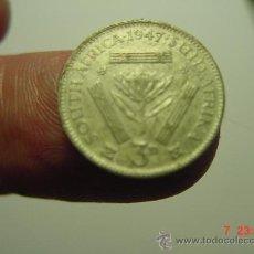 Monedas antiguas de África: 1634 SUDAFRICA 3 PENNY PLATA AÑO 1947 - OCASION !! - A DIARIO DECENAS EN VENTA A PRECIOS BAJOS. Lote 26625792