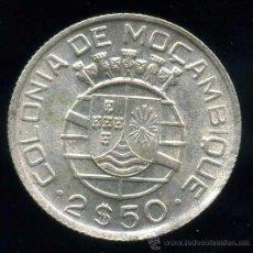 Monedas antiguas de África: MOZAMBIQUE : 2.50 ESCUDOS 1950 (PLATA). Lote 26706797