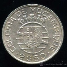 Monedas antiguas de África: MOZAMBIQUE : 2.50 ESCUDOS 1950 (PLATA). Lote 26706807
