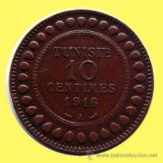 Monedas antiguas de África: TUNEZ . 10 CENTIMOS . 1916 . EXCELENTE. Lote 27264058