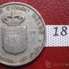 Monedas antiguas de África: CONGO BELGA 1 FRANCO 1958 . Lote 28273240