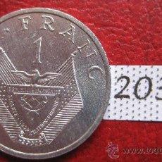 Monedas antiguas de África: RWANDA 1 FRANCO 1985 . Lote 28274870