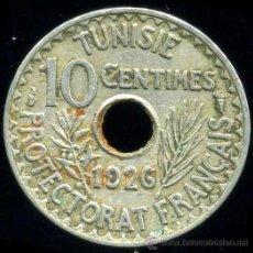 Monedas antiguas de África: TUNEZ : 10 CENTIMOS 1926. Lote 28889726