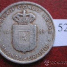 Monedas antiguas de África: CONGO BELGA , 1 FRANCO 1959 . Lote 29324505