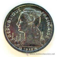 Monedas antiguas de África: MONEDAS DEL MUNDO . REUNION . 2 FRANCS 1948. Lote 29711197