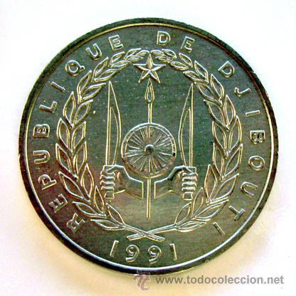 MONEDAS DEL MUNDO . DJOBOUTI. 5 FRANCS 1991 (Numismática - Extranjeras - África)