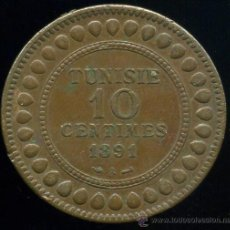 Monedas antiguas de África: TUNEZ : 10 CENT 1891. Lote 30024812