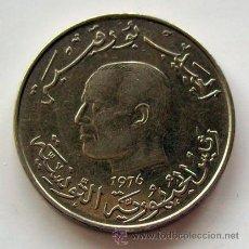 Monedas antiguas de África: MONEDAS DEL MUNDO. TÚNEZ . 1 DINAR 1976 . CALIDAD MBC+. Lote 30107230