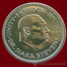 Monedas antiguas de África: SIERRA LEONA . 1 LEONE . DR. SIAKA STEVENS 1974 . GRAN TAMAÑO. Lote 30375809