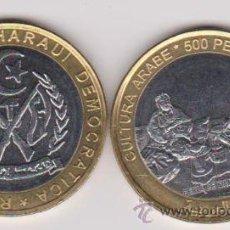 Monedas antiguas de África: SAHARA 500 PESETAS 2010 CULTURA ARABE. Lote 148116201
