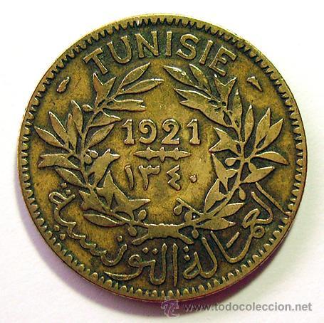 MONEDAS DEL MUNDO . TUNEZ . 2 FRANCS 1921 (Numismática - Extranjeras - África)