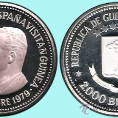 Monedas antiguas de África: GUINEA ECUATOR.-1979*80 PRUEBA PIEFORT 2.000 BIPKUELES PLATA 49,2 GR. VISITA REYES DE ESPAÑA. PROOF . Lote 33339419