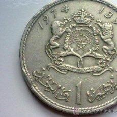 Monedas antiguas de África: MARRUECOS 1 DIRHAM 1974. Lote 35313888
