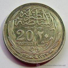Monedas antiguas de África: EGIPTO . 20 PIASTRES 1916 . PLATA. Lote 36987315