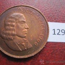 Monedas antiguas de África: SUDAFRICA , 2 CENTIMOS 1966. Lote 37146311