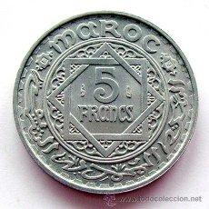 Monedas antiguas de África: MONEDAS DEL MUNDO . MARRUECOS . 5 FRANCS 1951 . EBC. Lote 37423532