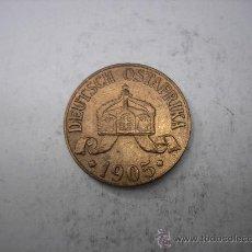 Monedas antiguas de África: 1 HELLER DE COBRE DE 1905 J.AFRICA ALEMANA , TANZANIA. Lote 37814172