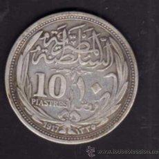 Monedas antiguas de África: 10 PIASTRAS DE PLATA DE 1917 - EGIPTO. Lote 38311348