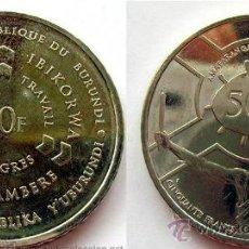 Monedas antiguas de África: BURUNDI 50 FRANCOS 2011. Lote 140176338