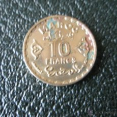 Monedas antiguas de África: AFRICA-MONEDA DE MARRUECOS-10 FRANCS-1952-BRONCE-ALGO MANCHADA-.. Lote 39726788