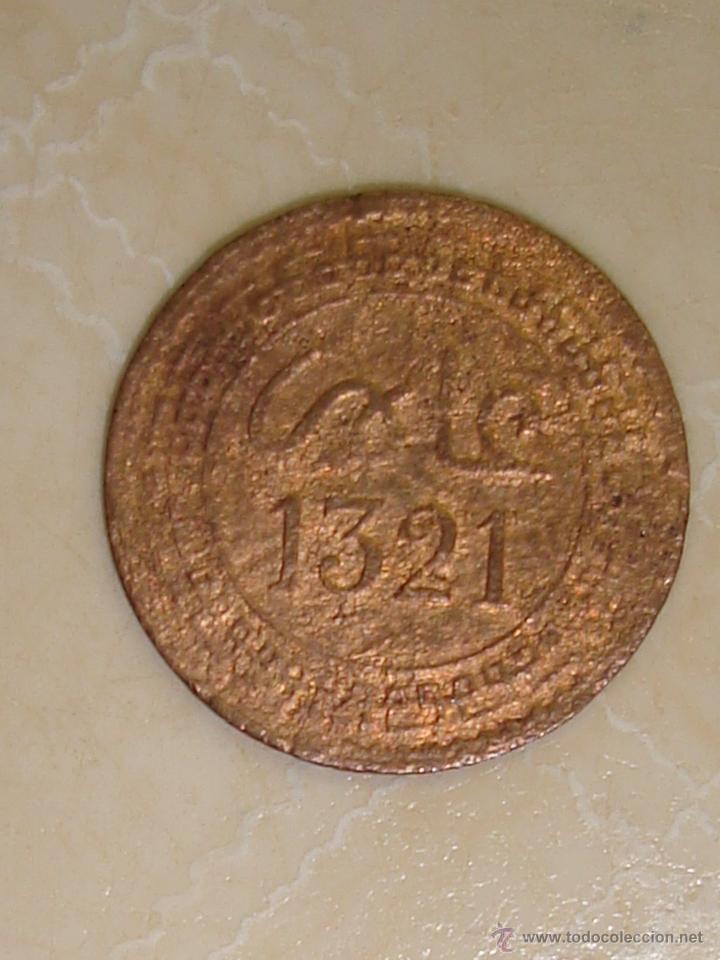 MARRUECOS. 2 MAZUNAS (1/25 DE DIRHAM) DEL SULTÁN ABDUL AZIZ DE 1321 (1903). CECA PARÍS. (Numismática - Extranjeras - África)