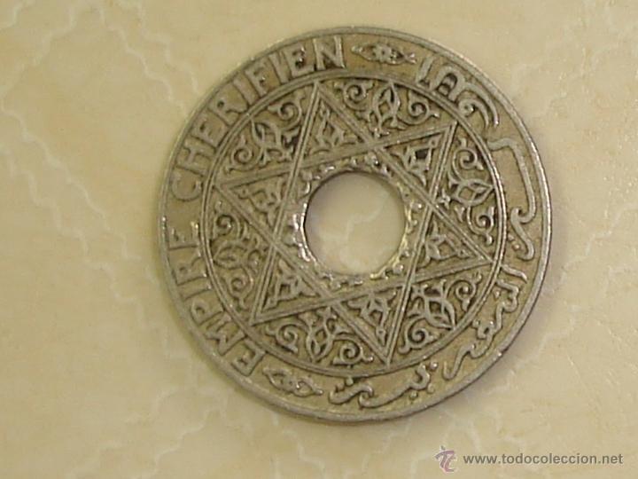 Monedas antiguas de África: Marruecos. Protectorado francés. 3 monedas diferentes de 25 céntimos de 1921-1924. - Foto 4 - 168560522