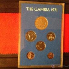 Monedas antiguas de África: LAS SEIS MONEDAS DE GAMBIA, 1971. Lote 40862537