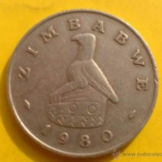 Monedas antiguas de África: A736- ZIMBABWE 50 CENTS 1980. Lote 40951065