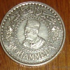 Monedas antiguas de África: MARRUECOS. 500 FRANCOS DE PLATA DE MOHAMMED V DE 1956 (1376) SIN CIRCULAR. Lote 99752192