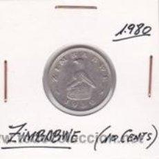 Monedas antiguas de África: ZIMBABWE 10 CENTS 1980. Lote 41757805