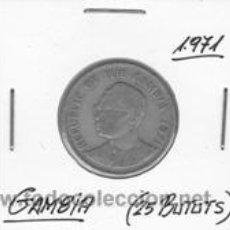 Monedas antiguas de África: GAMBIA 25 BUTUTS 1971. Lote 42155382