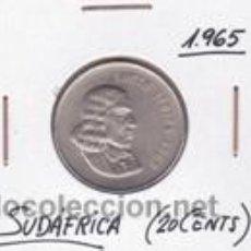 Monedas antiguas de África: SUDAFRICA 20 CENTS 1965. Lote 42167253