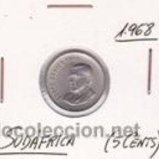Monedas antiguas de África: SUDAFRICA 5 CENTS 1968. Lote 42167545