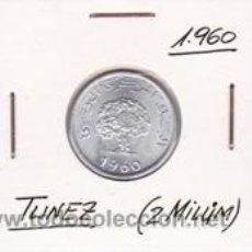 Monedas antiguas de África: TUNEZ 2 MILLIM 1960. Lote 42183320
