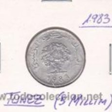 Monedas antiguas de África: TUNEZ 5 MILLIM 1983. Lote 42183341