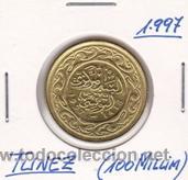 TUNEZ 100 MILLIM 1997 (Numismática - Extranjeras - África)